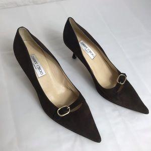 Jimmy choo chocolate brown heels